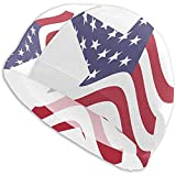 VTYOSQ America Star Gorro de baño de Ajuste cómodo para Hombres, Mujeres, Adultos, jóvenes, Gorro de natación de...