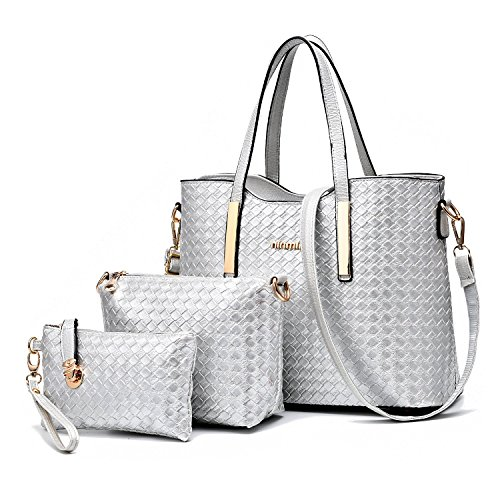 1.Superb Material -- This PU leather women handbag was made of high-grade PU leather, durable and waterproof. Classic leather veins give the women handbag a gentle feeling. We also used supreme cloth to made the lining.There's no chemical odor left i...