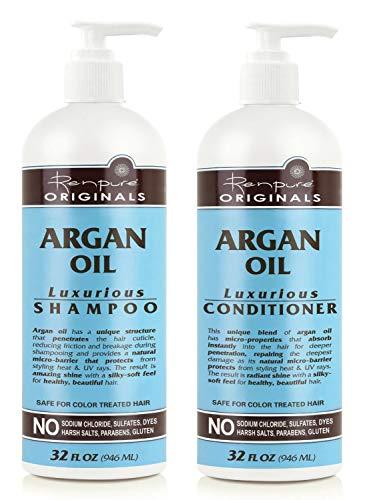 Renpure Originals Argan Oil Luxurious Shampoo and Conditioner, 32 Oz Bottles