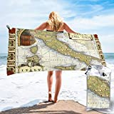 NoneBrand Wine Map of Italy On CGP Large Travel Microfiber Bath Towels Quick Dry Beach Blanket...