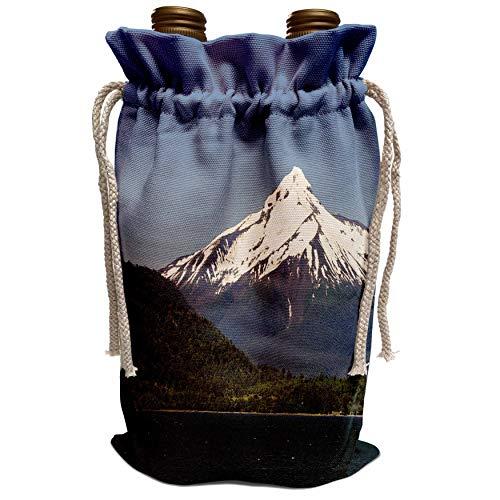 3dRose Danita Delimont - Fredrik Norrsell - Mountains - Chile, Patagonia, Aysen. Volcan Mellimoyu. - Wine Bag (wbg_188151_1)