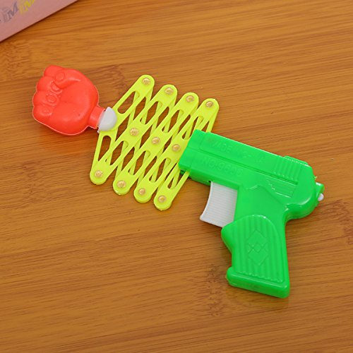 TOYMYTOY Children's Retractable Fist Shooter Trick Toy Gun Spring Toy Guns Kids Party Gift Favor