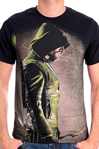 Arrow - The Hooded Archer Homme T-Shirt - Noir - Taille X-Large