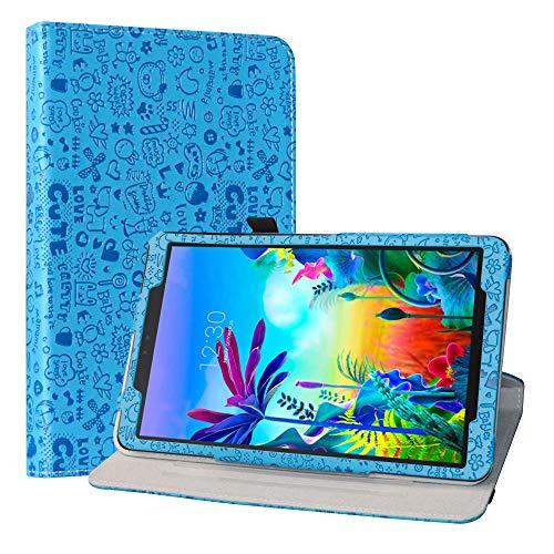 LiuShan Schutzhülle für LG G Pad 5 10.1 T600 Tablet PC (PU-Leder, um 360 Grad drehbar, mit Standfunktion, Nicht für LG G Pad X II 8.0 Plus V530) Tablet PC Blau blau