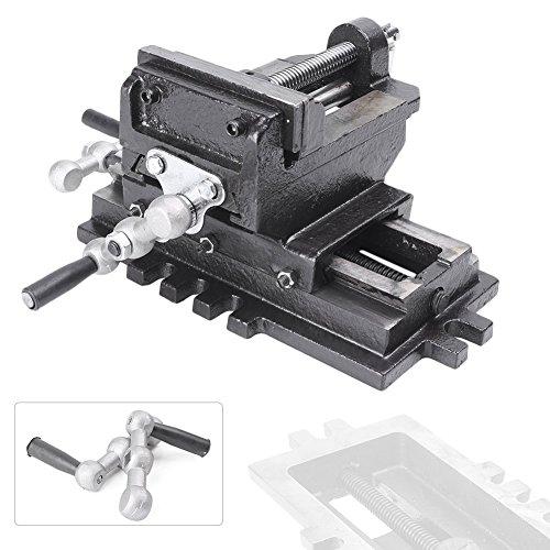 "Mallofusa 5"" Cross Slide Drill Press Vise X-Y Clamp Machine Metal Milling 2 Way HD"