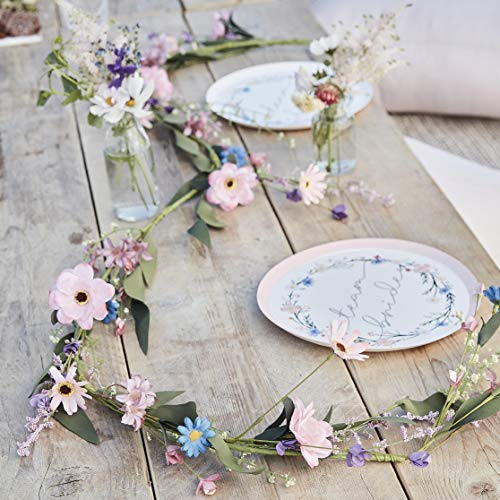 Ginger Ray Meadow Inspired Artificial Flower Hen Party Decorative Foliage Garland 1.9m in length