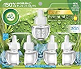 Air Wick Plug in Scented Oil Refill, Blue Agave and Bamboo, Air Freshener, Essential Oils, 5 Count