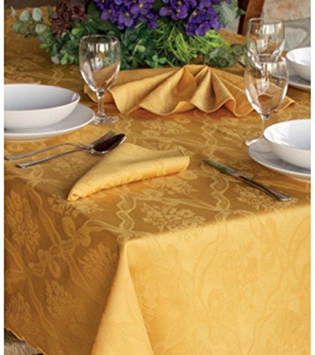 Euroricami Viterbo Tovaglia da tavola Fiandra in Puro Cotone Londra x 12 Oro