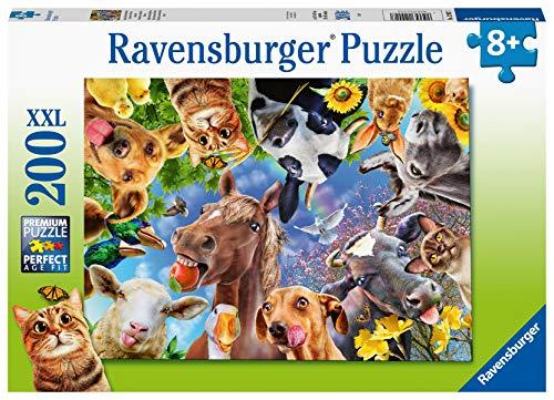 Ravensburger Kinderpuzzle - 12902 Lustige Bauernhoftiere - Tier-Puzzle für Kinder ab 8 Jahren, mit 200 Teilen im XXL-Format