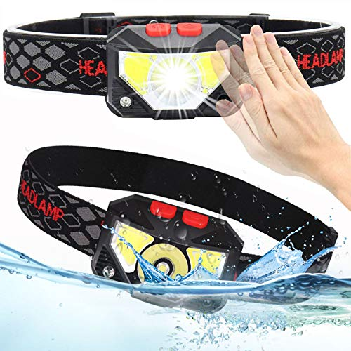 2 Pack Headlamp Flashlight, 1000 Lumens USB Rechargeable Headlamp,Ultra Bright LED Headlight Motion Sensor Head Lamp/6 Modes/Waterproof/Built In Batteries for Outdoors, Running, Camping, Hiking