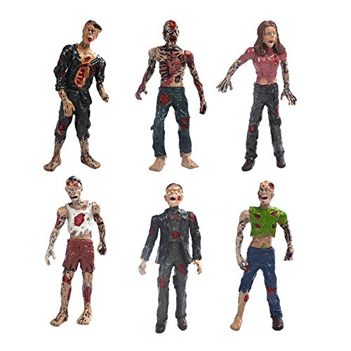 GFEU Zombie Doll Toy Kit of 6 Action Figures Walking Dead Toys Terror Corpse Dolls for Kids