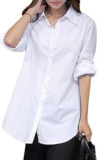 MIOIM ワイシャツ レディース シャツ ブラウス 長袖 フォーマル カジュアル スタイリッシュ 上品 ゆったり インナー 重ね着 シフォンシャツ