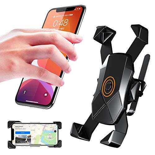 Seiaol Fahrrad-Handyhalterung, Einhandbedienung, Motorrad-Telefonhalterung, 360° drehbar, Universal-Fahrradhalterung für Telefon 11, Pro Max XS XR 8 X 8P 7 7P 6S, Samsung S10 S9 S8, Huawei