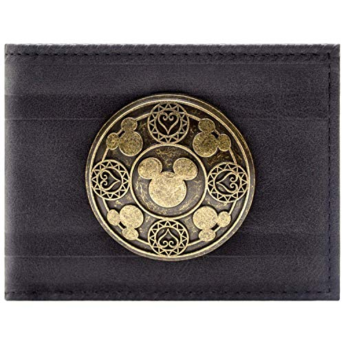 Cartera de Kingdom Hearts Insignia de Bronce Negro