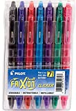 PILOT FriXion Clicker Erasable, Refillable & Retractable Gel Ink Pens, Fine Point, Assorted Color Inks, 7-Pack Pouch (31472) - 1