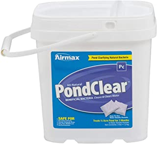 Airmax PondClear Natural Beneficial Bacteria, Cleans & Clarifies, Water Treatment, Safe for Fish, 12 Packets Treats 1/4 Ac...