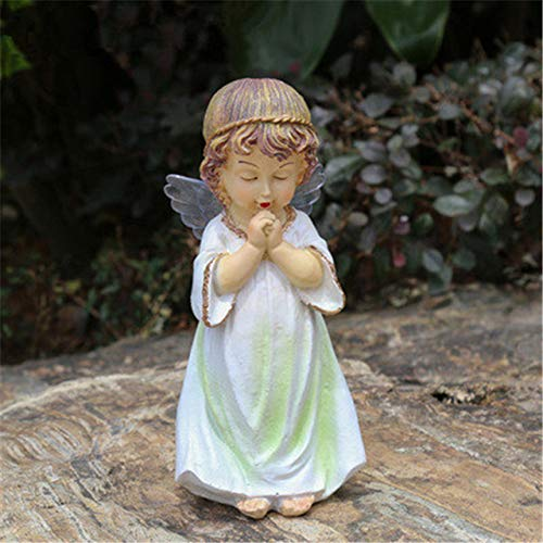 yueyue947 American Country Garden Ornament Resin Little Angel Sculpture Figurines Creativo Home Patio Decoracin / 9X9X20CM