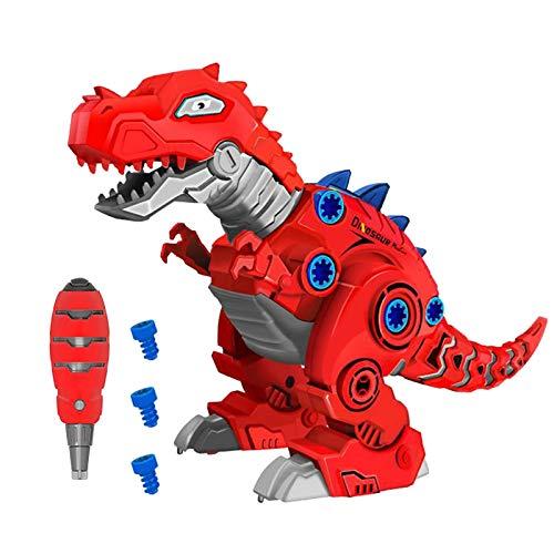 Desmontaje de dinosaurio con luz LED, juguete para niños – Montaje y desmontaje de dinosaurios, juguete para regalo de cumpleaños, regalo de Navidad para todos los niños y niñas 3 4 5 6 años
