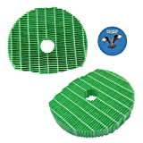 HQRP 2-Pack Humidifying Filter Works with Sharp KC-C70U, KC-C100U, KC-C150U, KC850U, KC860U Air