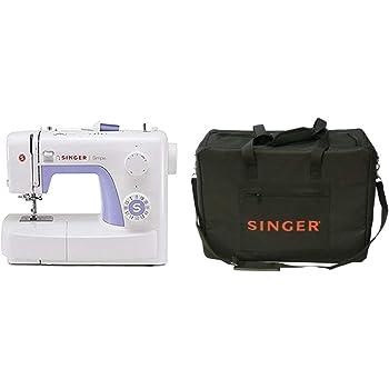 Singer Simple 3232 - Máquina de coser mecánica, 32 puntadas, 120 V, color blanco + Funda para máquina de coser, color negro: Amazon.es: Hogar