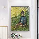SADHAF Famoso lienzo de Van Gogh impresión de lienzo en el lienzo póster pared pop art foto para la habitación A6 70x100cm