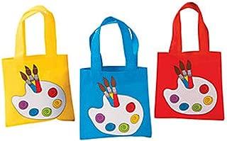 Little Artist Paint Palette Tote Party Favor Bags - 12 ct
