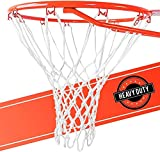 2 Pack Ultra Sporting Goods Heavy Duty Basketball Net Replacement - All Weather Anti Whip, Fits Standard Indoor or Outdoor Rims - White, 12 Loops (2 Pack)