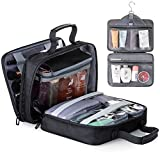 Lizzton Hanging Toiletry Bag for Women Large Travel Accessories Organizer Kit Waterproof Makeup Cosmetic Bag
