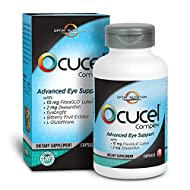 Optim Nutrition Ocucel Complex Advanced Eye Support Vitamins for Protection from Excessive Use of Computers and Cellphones, 120 Capsules
