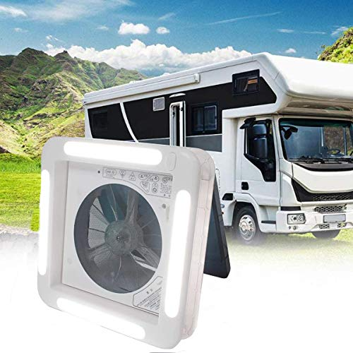 POEO Ventilador Escape de Enfriamiento Ventilación Bidireccional, Ventilador Escape del Vehículo con Sensor de Lluvia, Velocidad Viento Ajustables para Autocaravana, Coche,Manual