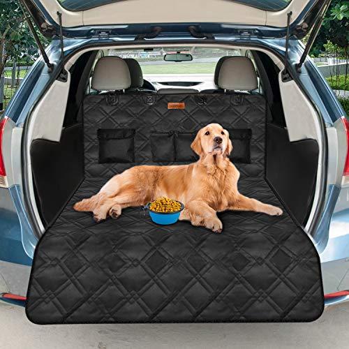 Looxmeer Protezione Bagagliaio Auto per Cani, Telo Auto per Cani, Tppetino per Bagagliaio in 600D Oxford Impermeabile Antistrappo Antiscivolo Universale per Auto 185 * 103 * 34 CM