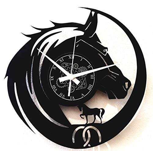 Instant Karma Clocks - Reloj de Vinilo de Pared para Viajes, Senderismo, equitación, Caballo, Vintage, Idea de Regalo