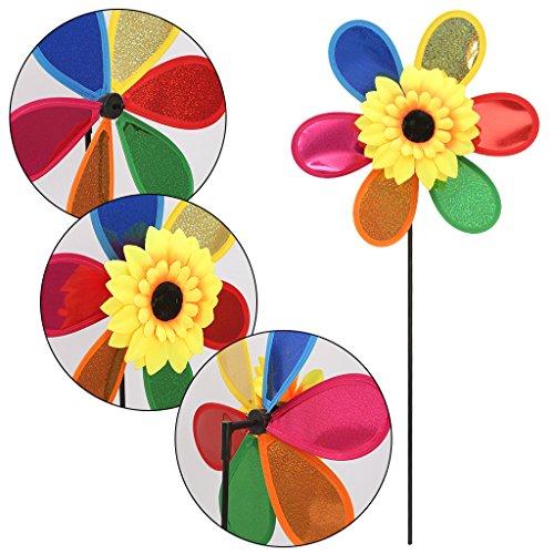 ECMQS 7/roues lumineux Moulin /à vent Jouet Enfant D/écoration de jardin Ornament Multicolore Ext/érieur D/écoration /éolienne Lot de 1