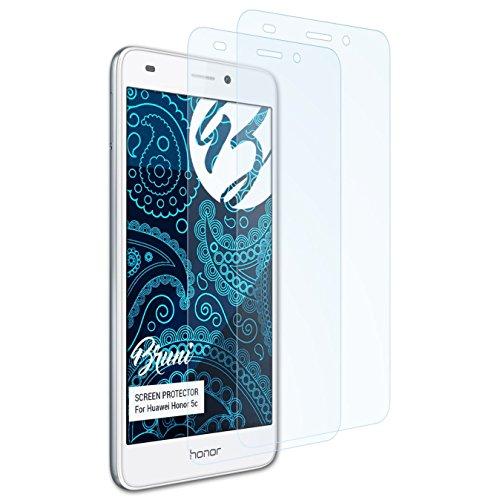 Bruni Schutzfolie kompatibel mit Huawei Honor 5c / Honor 7 Lite Folie, glasklare Bildschirmschutzfolie (2X)