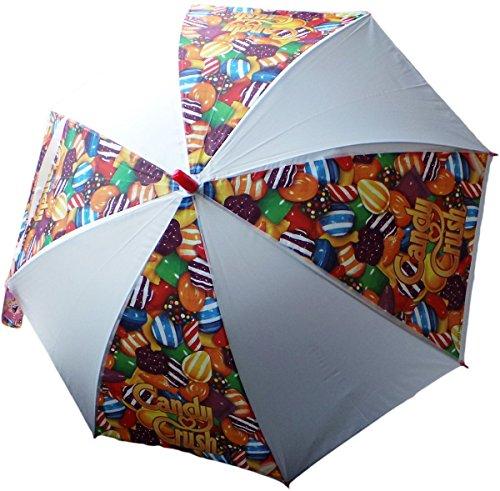 King.com Ltd. Candy Crush Regenschirm - Zuckertraum - Motivaufdruck - Automatik