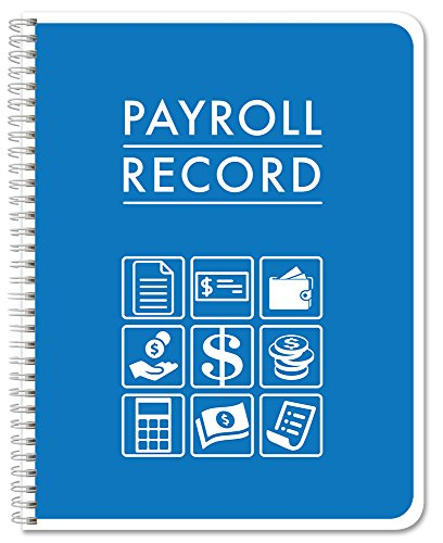 """BookFactory Payroll Record Book/Employee Payroll Weekly Log Book/Logbook/Journal - 100 Pages, 8.5""""x11"""", Wire-O, (LOG-104-7CW(Payroll)-BX)"""