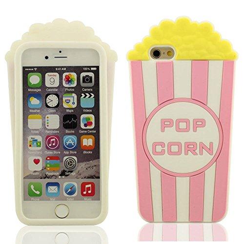 Desconocido Palomitas de maíz Forma Gel de Silicona Suave Funda Protectora iPhone 6S / 6 4.7 Pulgada Cubierta Protectora