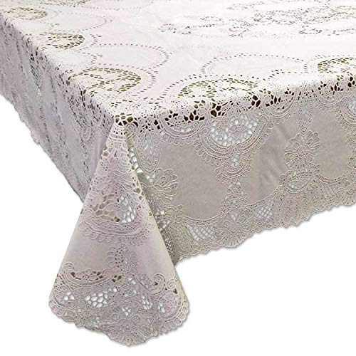 Tischdecken Amira Vinyl 152x228cm ivory