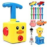 Balloon Powered Launch Car- Rocket Flying Toy, Upgraded Car Launcher Toy Kit Children Educational Inertial Power Toys,for Family Preschool Creative Science Experiment Toys (C)