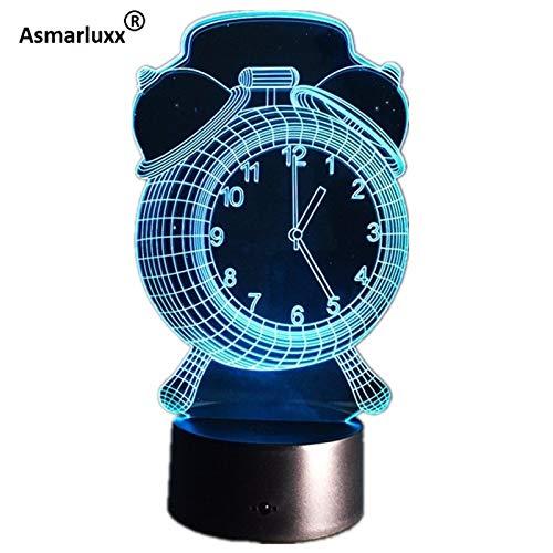 Wecker Knopf Baby Weihnachtsnacht Licht 3D LED Tischlampe Kinder Geburtstagsgeschenk Nachtzimmer Dekoration