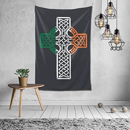 Celtic Cross Tapestry Wall Hanging Polyester Decor Blanket Tapestry 60'X40' for Living Room Bedroom
