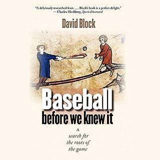 Baseball before We Knew It cover art