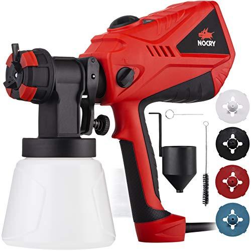 NoCry 1200ml/min Electric Paint Sprayer - 600W Motor, 100 DIN/s Max Viscosity,...