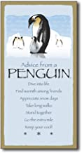 Tamengi Advice from A Penguin Rustic Wood Wall Funny Inspirational Quotes Art Home Family Decoration Design Plank Plaque Sign 5