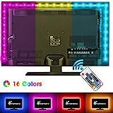 Vansky 2M LED TV Hintergrundbeleuchtung für HDTV / Gaming PC LED Streifen RGB Neon Akzent TV Beleuchtung für Flachbildschirm-TV-Zubehör(Reduzieren die Augenermüdung und Erhöhen die Bildklarheit)