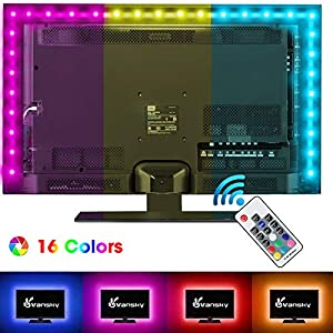 Vansky® LED TV Backlight for HDTV/Gaming PC, LED Strip Lights Home Normal Bright White for Flat Screen TV Accessories, Desktop PC (Reduce Eye Fatigue and Increase Image Clarity)