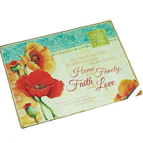 "Abbey Gift""Blooming Blessings"" Cutting Board, 15.63 by 11.75"""