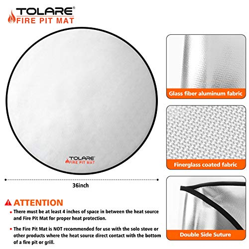 Tolare Tolare Fire pit Mat 36 Inch