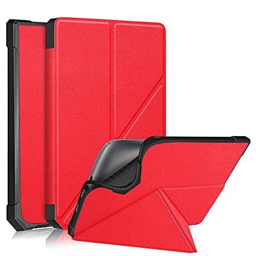 Pocketbook InkPad 3 PB740 Funda,Estuche Case Billetera Cover Cierre Magnético Caso Tapa con Wake Up/Sleep Cubrir Shell para Pocketbook InkPad 3 PB740/3 Pro PB740/Color PB741 7.8' Tablet (Rojo)