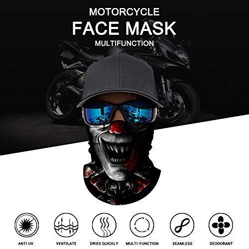 Lechnical Fresco Robot Esqueleto máscara de Halloween Bufanda Joker Diadema pasamontañas para Ciclismo Pesca esquí Motocicleta